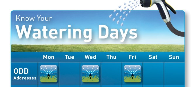 L.A.D.W.P. Wants YOU To Know Your Watering Days — Statewide Drought!